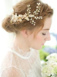 vintage bridal tiaras headbands wedding combs gold bridal ...