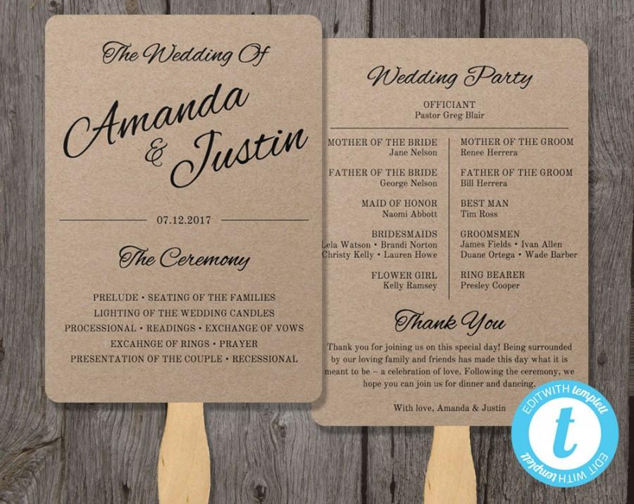 printable program paper - Klisethegreaterchurch - wedding program template