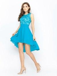 Turquoise Bridesmaid Dress Lace Wedding Dress Chiffon ...