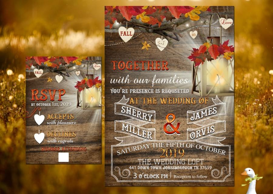 Wedding Invitation/Response Card - 100 Professionally Printed