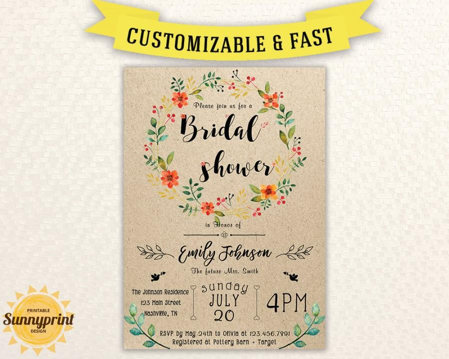 Bridal Shower Invites - Bridal Shower Vintage - Bridal Shower - bridal shower invitation templates