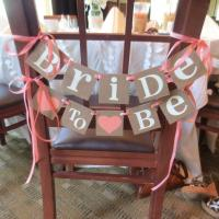 Bridal Shower Decoration Banner / Bride To Be Chair Sign ...