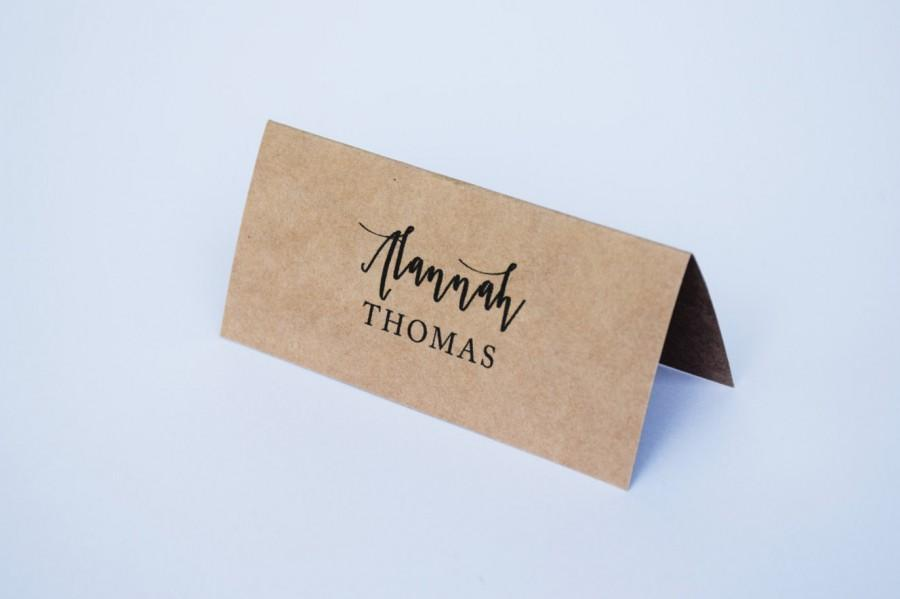 Wedding Place Cards Kraft Fold-over Placecards - Rustic Wedding
