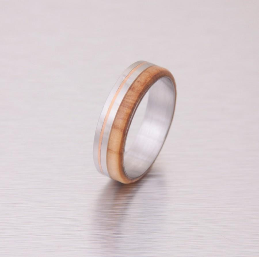 wooden wedding rings titanium ring wooden wedding rings zoom