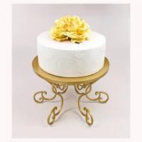 Gold Cake Stand, Wedding Cake Stand Gold Swirl Pedestal ...