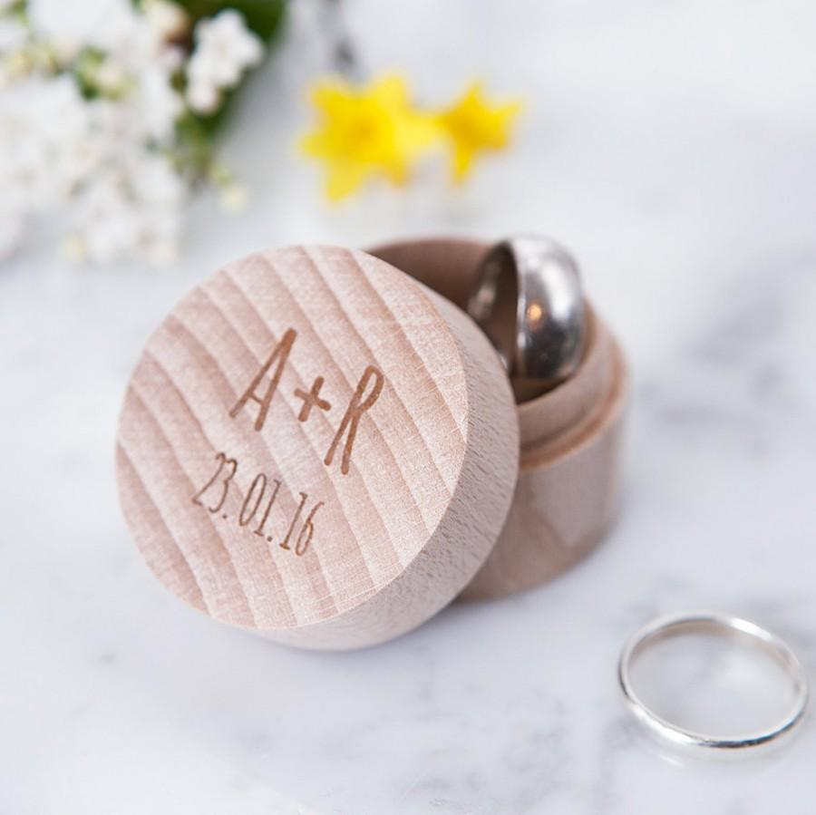 Ring Box Für Hochzeit Personalised Wedding Initial Ring Box Rustic Wedding Wedding