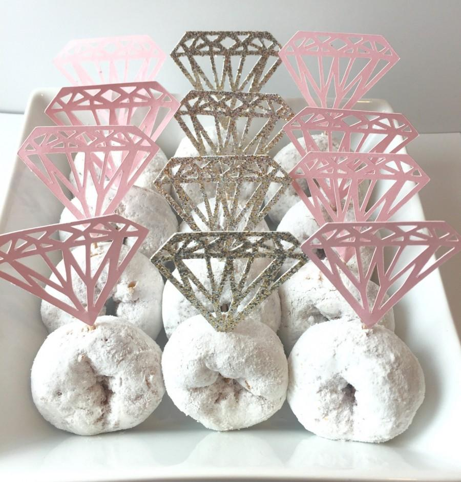 Hochzeit Cupcakes Diamond Cupcake Topper Donut Toppers Diamond Shaped Donut Topper
