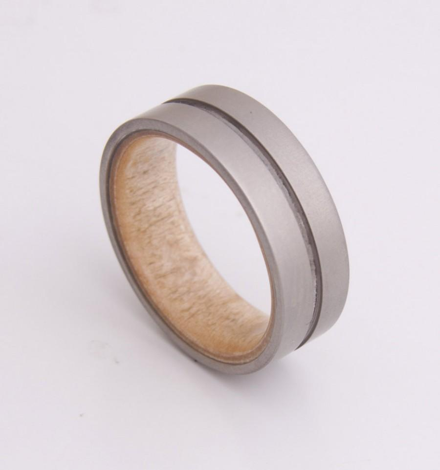 mens wooden wedding bands Mens Women Wedding Band Black Tungsten Ring Koa Wood Inlay Comfort Fit Size 6 16