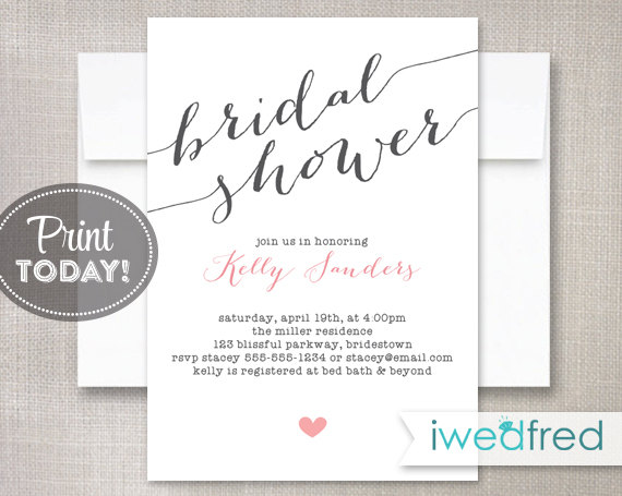 printable bridal shower invitations - Onwebioinnovate - bridal shower invitation templates