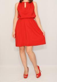 Short Red Dress Chiffon Dress Bridesmaid Dress Keyhole ...