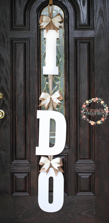 I DO Bridal Shower Door Decoration