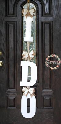 I DO Bridal Shower Door Decoration-I DO Wooden Door Hanger ...