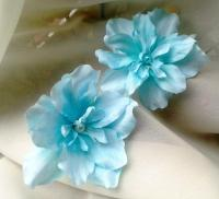 Blue Tropical Flowers Wedding