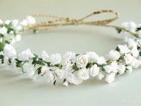 Gypsophila Flower Crown - White Bridal Headpiece - Made Of ...