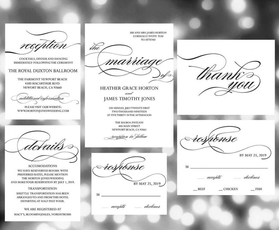 Printable Wedding Invitation Template , Wedding Invites, Wedding