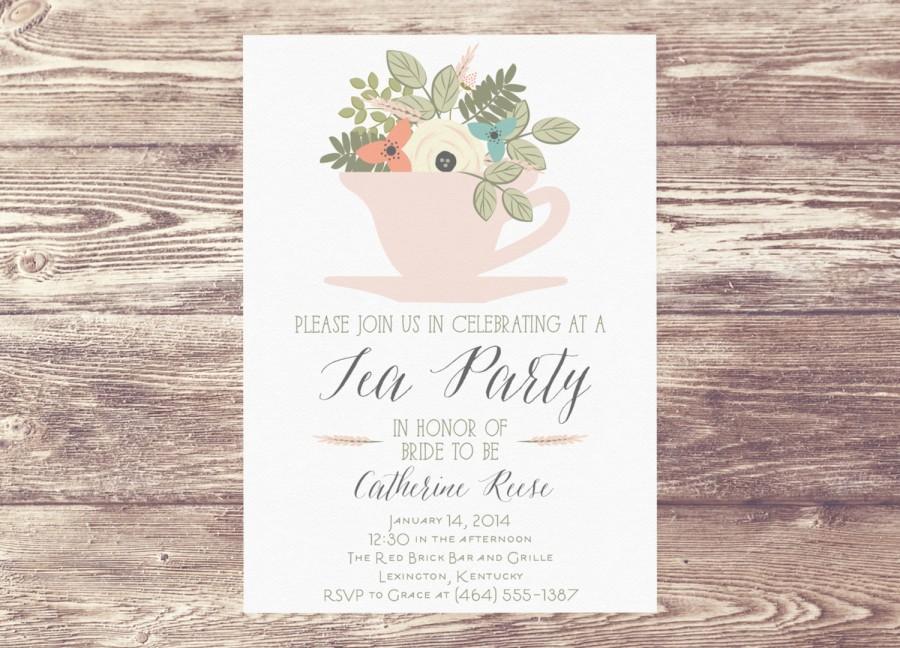 Tea Party Invitation. mad hatter tea party invitations ...