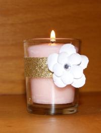 Roaring 20s Wedding / Gold Glitter Wedding Votive Candle ...
