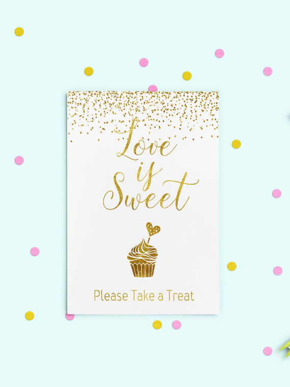 Love Is Sweet Printable Dessert Table Love Is Sweet Sign Candy