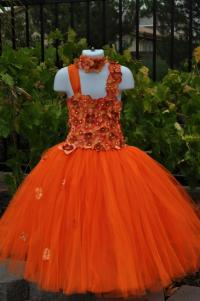 Orange Dress, Special Occasion Dress, Orange Flower Girl ...