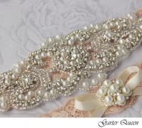 Bridal Garter Set, Wedding Garter Set, Stretch Lace ...