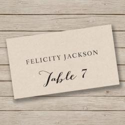 Small Crop Of Place Cards Template