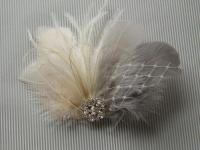 Wedding Bridal Hair Accessories Bride Feather Fascinator ...