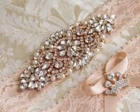 Blush Lace Bridal Garter Set, Lace Wedding Garter Set ...