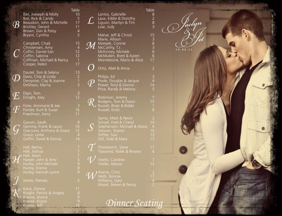 Wedding Seating Chart, Photo Seating Chart, Seating Board, Digital
