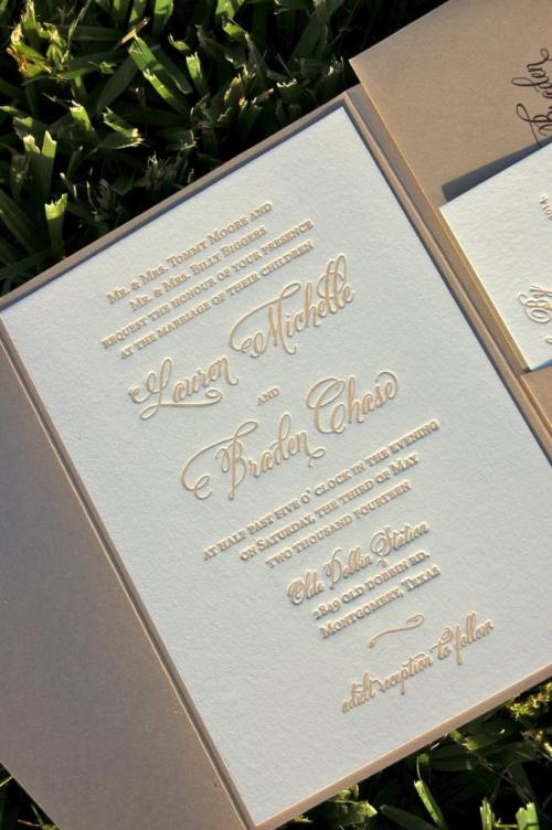 Medium Of Letterpress Wedding Invitations