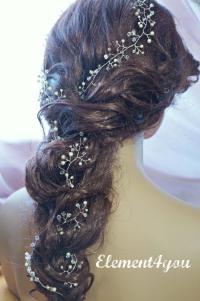 Bridal Hair Vines, Extra Long Hair Vines, Wedding Hair ...