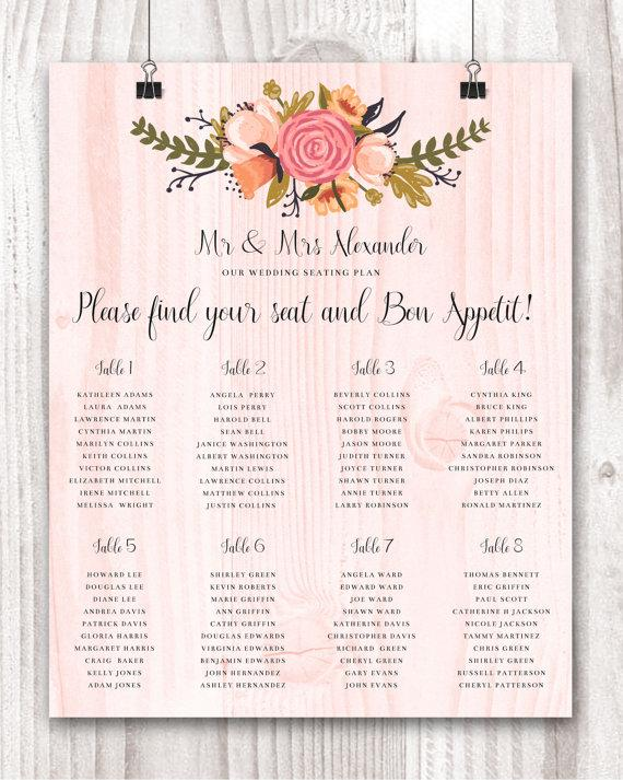 guest seating charts - Athiykhudothiharborcity - wedding charts