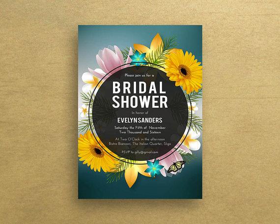 Bridal Shower Invitations, Sunflower Bridal Shower Invitation