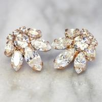 Bridal Earrings,Swarovski Crystal Earrings,Cluster ...