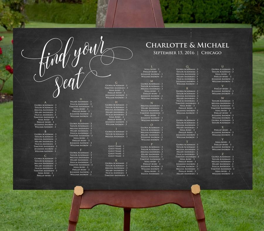 seating chart poster template - zrom