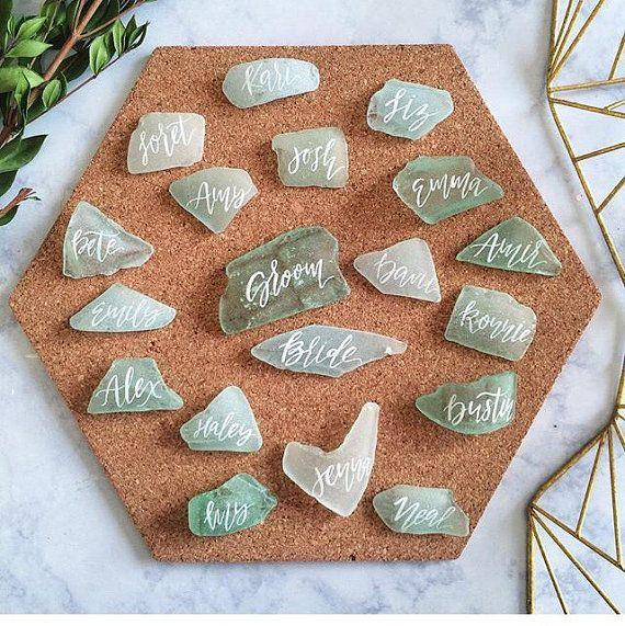 Wedding Theme - Custom Sea Glass Place Cards For Sara #2557952 - buy place cards