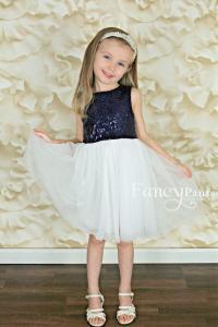 White And Navy Blue Flower Girl Dresses | www.imgkid.com ...