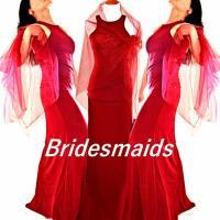 Red Bridesmaid Dress, Red Bridal Wraps, Bridal Cover Ups ...