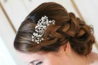 Swarovski Bridal Comb, Beaded Wedding Comb, Gypsophila ...