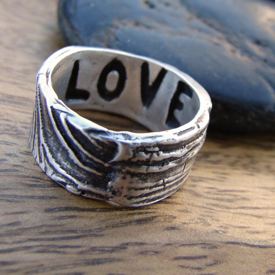 handmade wedding ring handmade wedding rings Handmade wedding ring Hammered 14k Gold Wedding Band Set