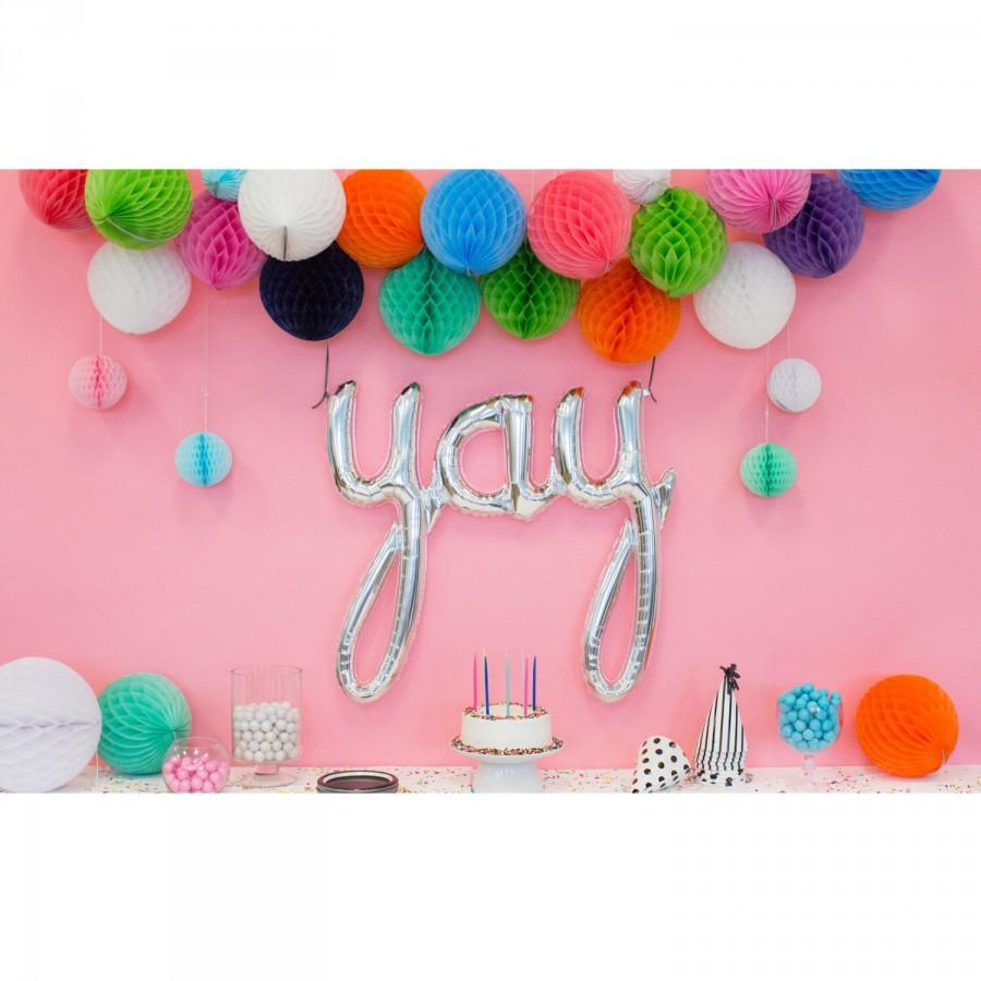 Decor Photobooth Engagement Party Decoration Yay Balloon Letter Balloon