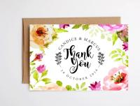 Watercolor Floral Thank You Cards  Craftbnb