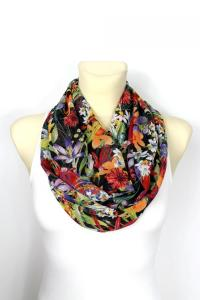 Infinity Scarf Floral Infinity Scarf Printed Scarf Unique ...