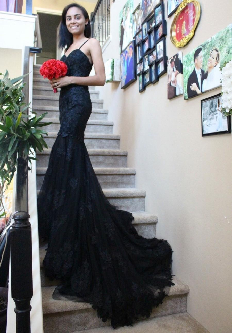 wedding dress with black lace detail black mermaid wedding dresses Wedding Dresses Black Lace Dress Ing Tips On Kneocycleparts