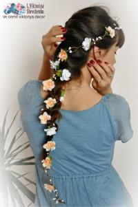 Flower Hair Garland Bridal Flower Crown Wedding Hair ...