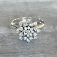 Diamond Engagement Ring, Promise Ring For Her, 18k Gold ...