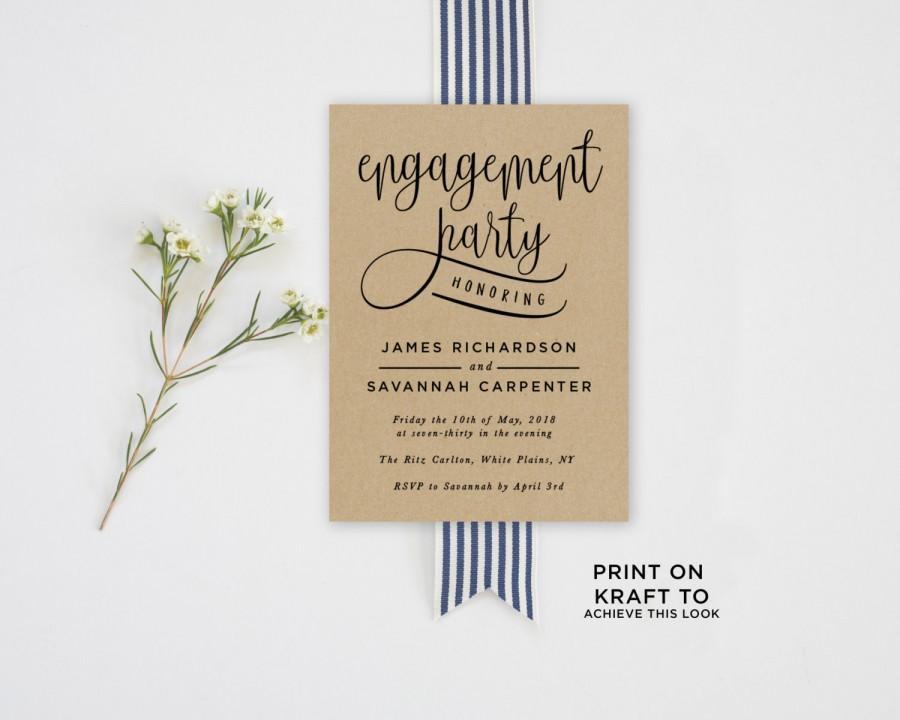Invitation - Engagement Party Invitation Template #2581199 - Weddbook