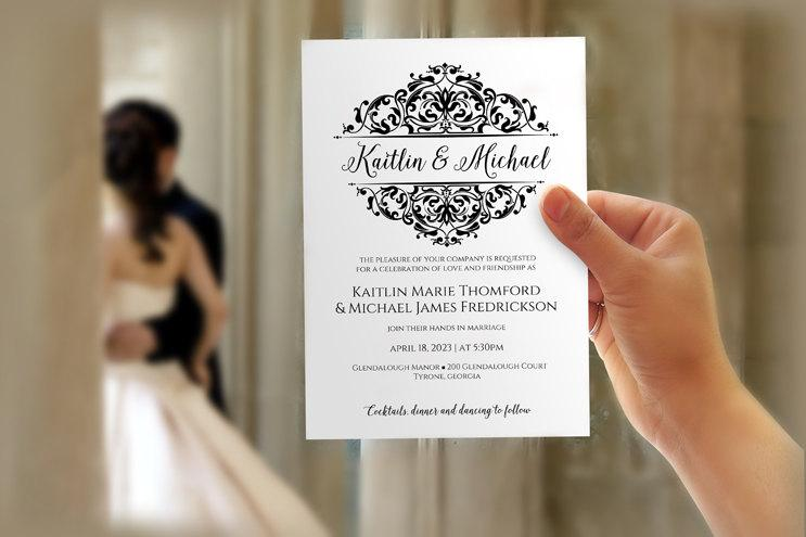 DiY Wedding Invitation Template - Download Instantly - EDITABLE TEXT
