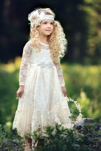 Flower Girl Dress, Girl Lace Dress, Country Lace Dress ...