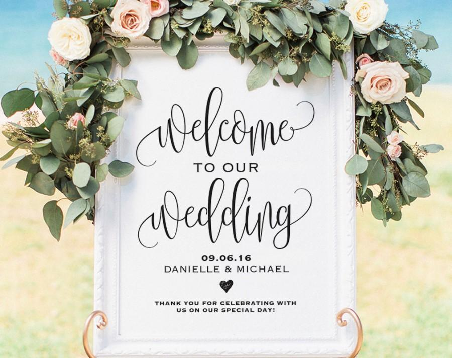 Welcome Wedding Sign, Welcome Wedding Printable, Wedding Sign - wedding template
