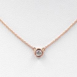 0 1 Carat Diamond Bezel Setting Necklace Solitaire Diamond Necklace